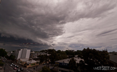 And then the storm front comes. Looking toward Newtown and Glebe