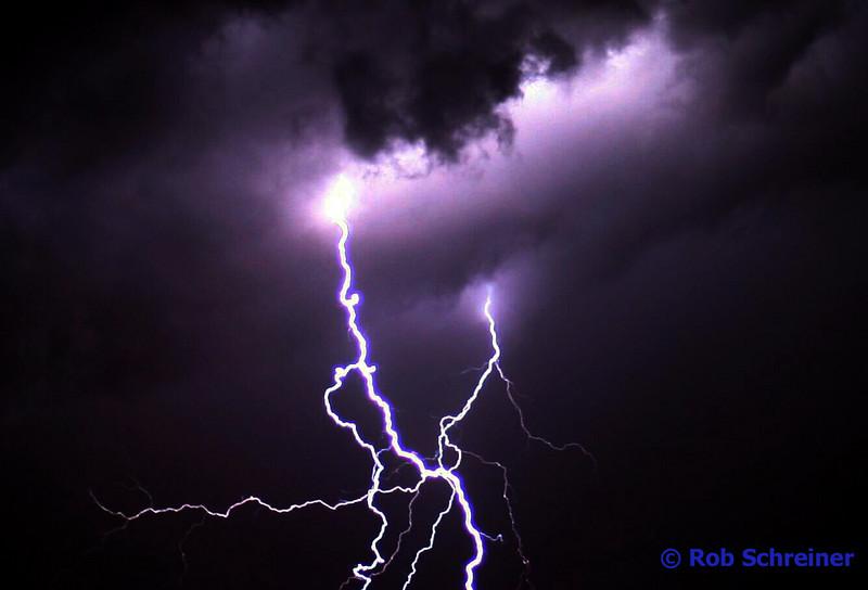 Time lapes photo of thunder storm north of Kenosha.