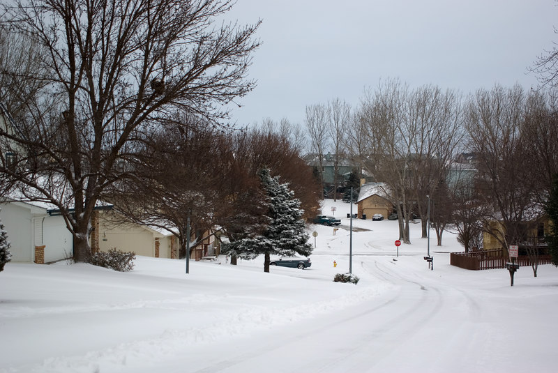 "<font size=""3"">Even after the plows went through, the neighborhood streets were not great.</font>"