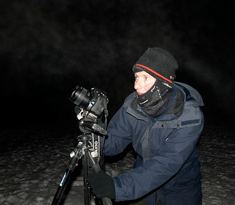 Me in action and almost frozen.