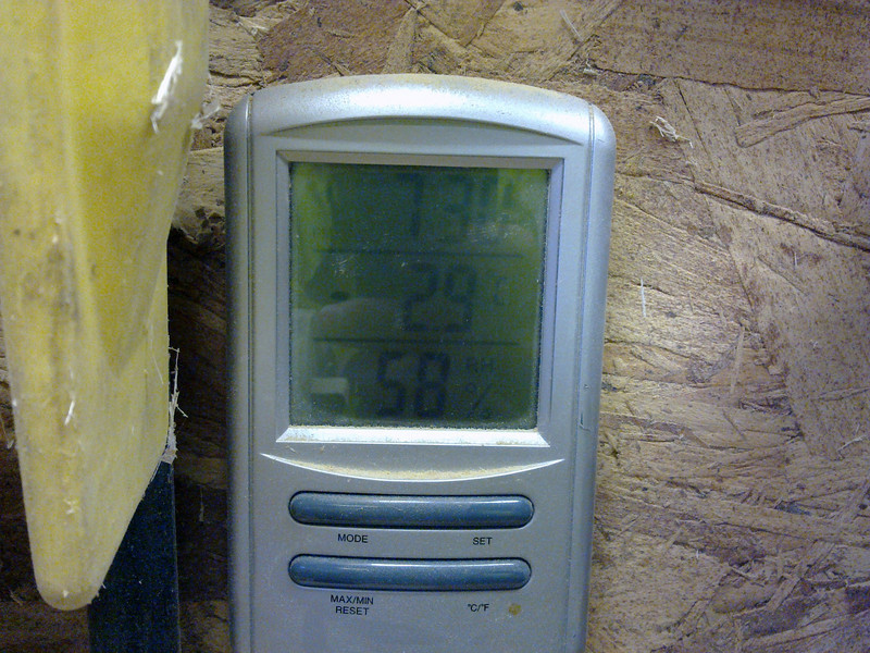 -2.9 C in the workshop this morning.
