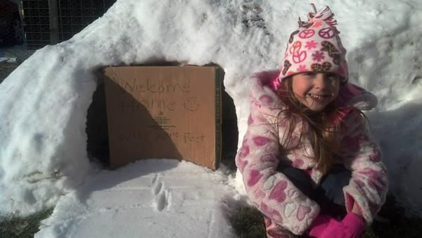 By Nikki Greim Snow fort built for the children.