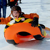 """Walter Tulis, 10, goes over a jump during a day of sledding on Tuesday.<br /> No school and plenty of snow at Scott Carpenter Park in Boulder, equals sledding.<br /> For a video and more photos of sledding, go to  <a href=""""http://www.dailycamera.com"""">http://www.dailycamera.com</a>.<br /> December 27, 2011 / Cliff Grassmick"""