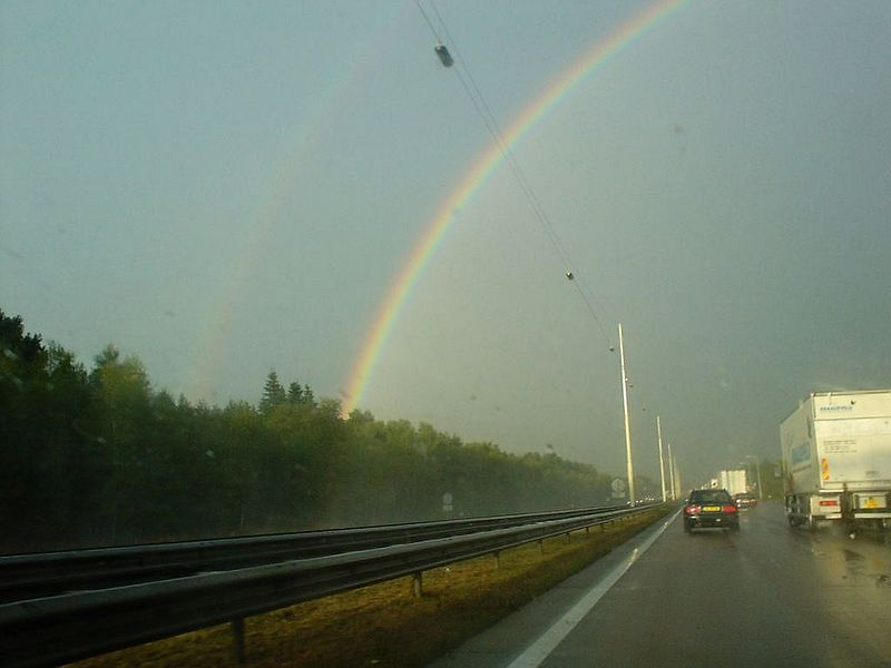 Wow! Double rainbow! And these pictures are terrible compared to the real thing...