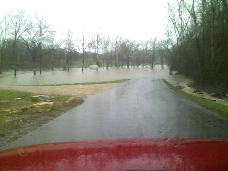 Cook Creek from Saddlebrooke Dr at Bull Creek Park.