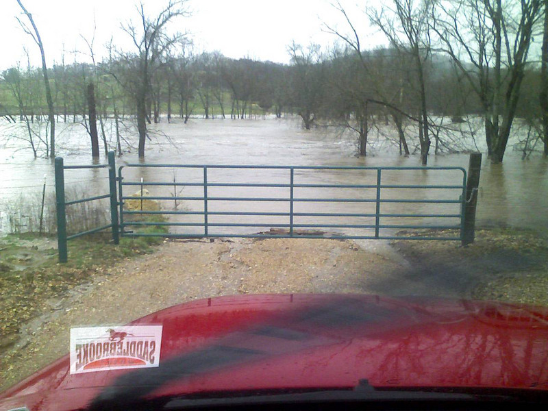 Bull Creek, north of the stables.