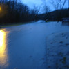 Canyon Creek, cresting in the night.  This in the intersection of Tower Rd and Saddlebrooke Drive.