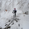 SNOW15.JPG SNOW15<br /> Aaron Bouplon of Boulder rides his bike near the North Foothills Trailhead off Lee Hill Road on Wednesday morning.<br /> Photo by Marty Caivano/Camera/Oct. 28, 2009