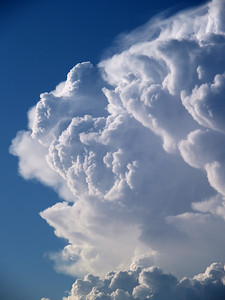 Convective storm clouds exploding into action. Colorado, USA