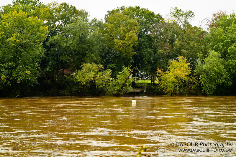 Notice the floating barrel going by in the Delaware River near Riegelsville