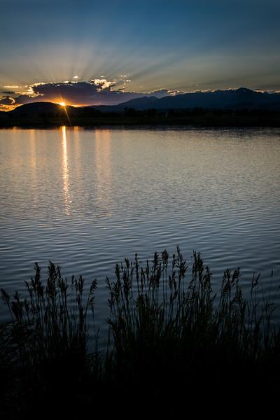 Solstice sunset 06/20/17. Pastorius Lake, Durango CO