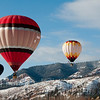 Balloons rise high over the Animas Valley, Durango, CO.
