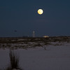 Moonrise over military base, Navarre Beach FL