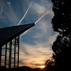 Sundog as seen from Fort Lewis College campus chapel, Durango, CO 9/9/12