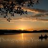Sunset on Pastorius Lake, Durango CO. Three generations in canoe.