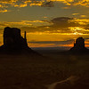 The Mittens, Monument Valley sunrise