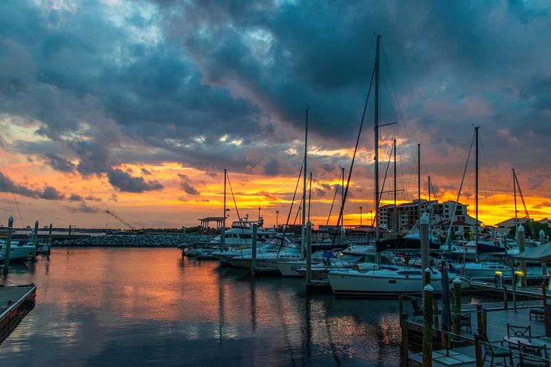 Sun setting from Palafox Pier