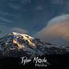 962  G Mt  Rainier and Lenticular Cloud