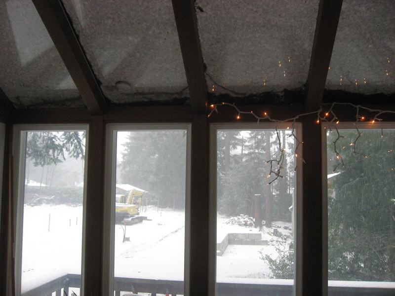 Day 1 of the snow storm from the sun room.