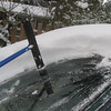 "Snow depth.  To give some perspective, the blade on the broom is about 12"" long."