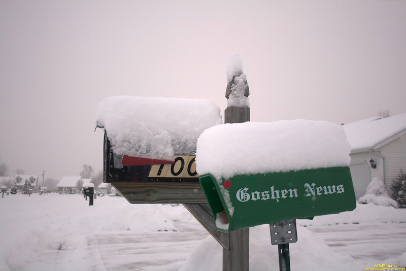 Read All About It! Snow Hits Goshen!<br /> Goshen Snow 1/8/2011