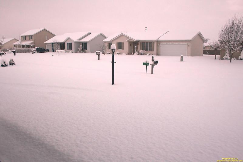 View from a Garage<br /> Goshen Snow 1/8/2011