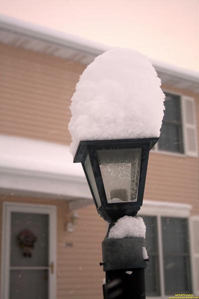 Snow-Capped Lamp Post<br /> Goshen Snow 1/8/2011