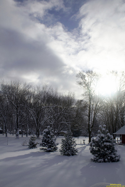 Peeking Through the Clouds<br /> Goshen Snow 1/8/2011