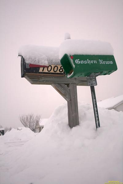 Read All About It! Snow Hits Goshen!<br /> Goshen Snow 1/8/2011