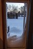 Drifting up the sliding glass door to the back yard after the blizzard
