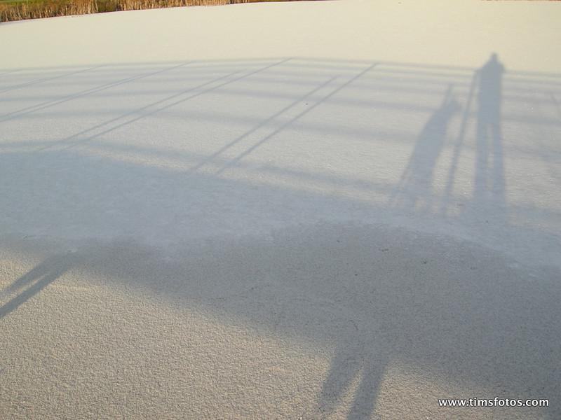 Shadows on Frozen Lake
