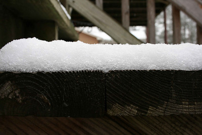 Close up of the snow.