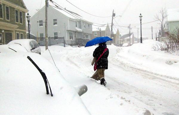 Snow buries Lowell region