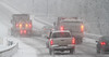 Snowplows lead the way north on Rt. 100 in Upper Pottsgrove Twp.<br /> Photo by Kevin Hoffman, The Mercury