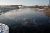Irlam Locks in the snow