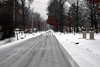 Ryburn Road in Watson Chapel Monday morning. Slick road and no traffic. /MIke Adam