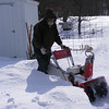 The Snow is to Deep.<br /> And I am too old to be shoveling the paths I need so I started the snow blower.