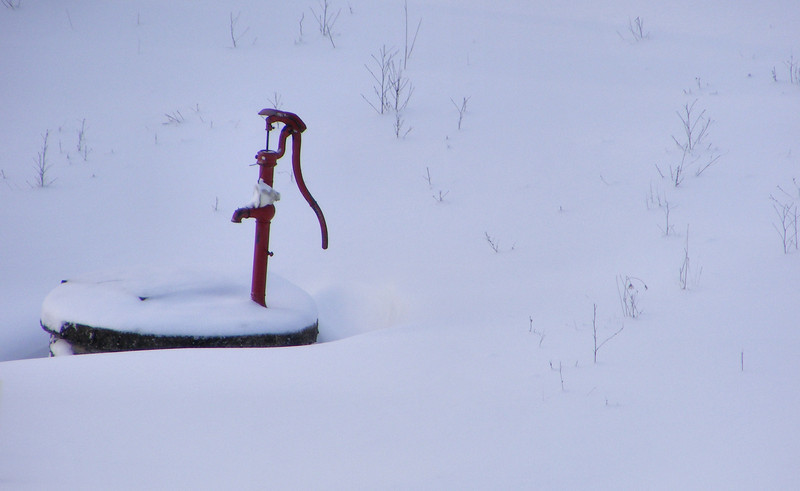 We'll Wade Snow For The Drinking Water.<br /> After 8 or 9 inches of new snow, it gives the landscape a different look.