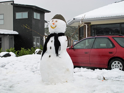 One of the better neighbourhood snowmen in Riverstone - Tuesday 16th August 2011.