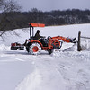 Clearing The Snow.<br /> It sure beats using a shovel on it all