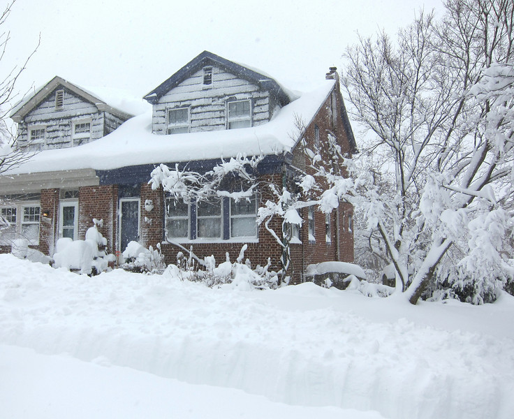 Our house, Feb. 6, 2010, at about 10 a.m.