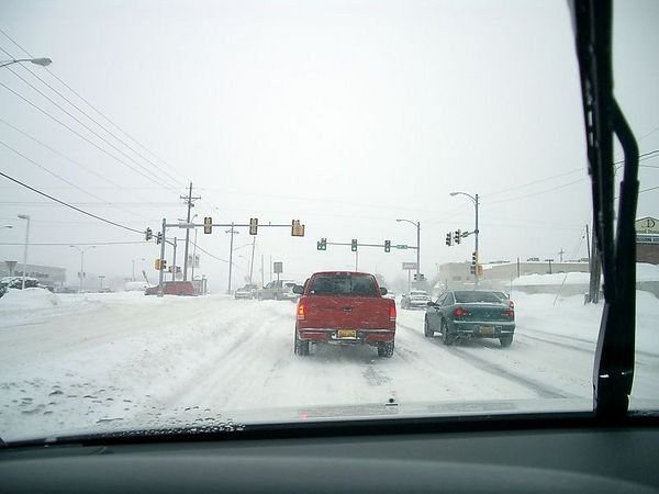 """<br><br><font size=""""3"""">Not much traffic on the way home.  Most schools and businesses had closed or cancelled early in the morning, those that hadn't sent everyone home early.</font>"""