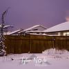40  G Snowy Back Yard NIght