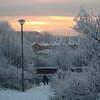 December 2010. Sunrise, the path beside my flat, Springburn, Glasgow.