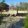 Lake Flower dam in flood