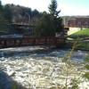Saranac River roaring below the dam