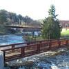 foot bridge below the dam behind police station