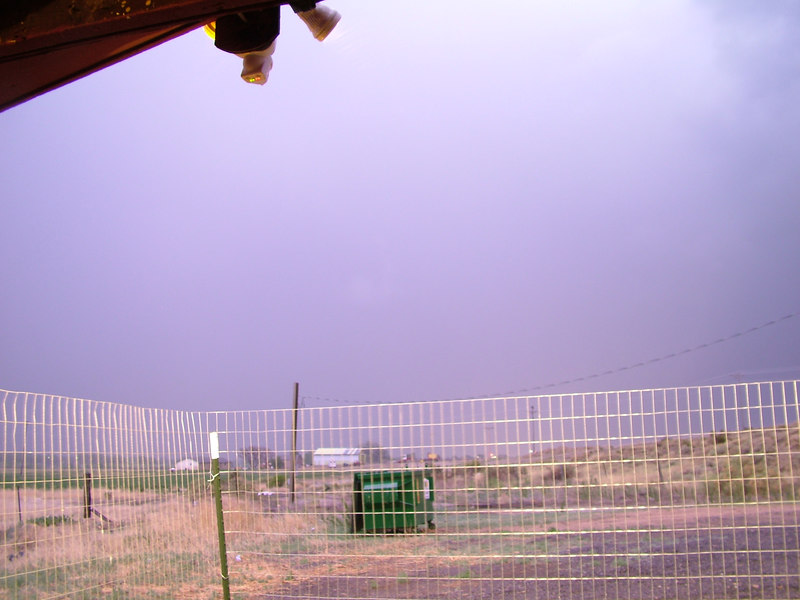 See the previous picture, to see what it looks like without a giant lightning bolt just outside of the frame...it is night, pitch black.