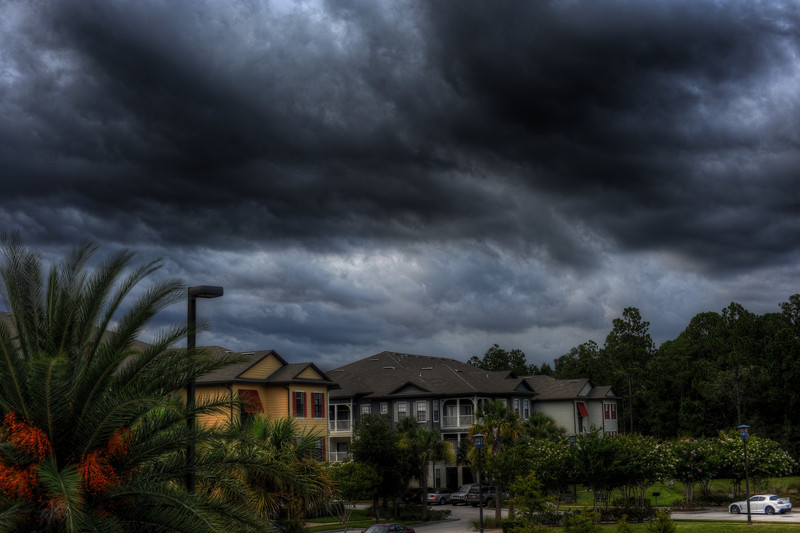 HDR images of a storm rolling in over Jacksonville, FL.