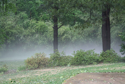 Fog after the storm passed.
